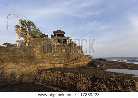 Famous Tanah Lot Temple On Sea In Bali Island Indonesia