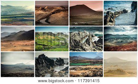 rocky coast in Lanzarote