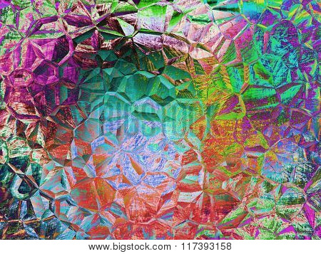 Multicolored Mosaic And Polygonal Abstract Background.
