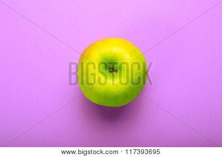 Whole Apple On Purple Background