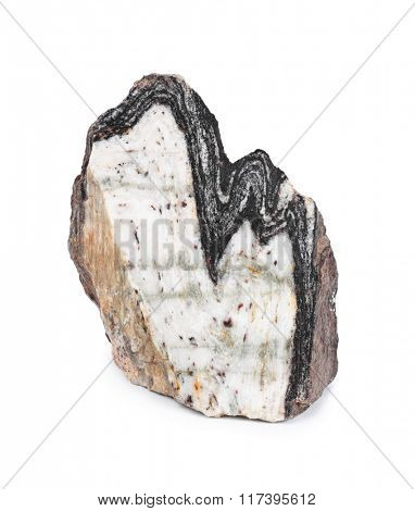 Stone - isolated on white background