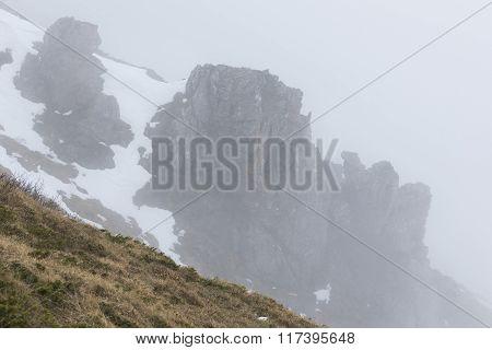 Rocky Foggy Mountain Rocks