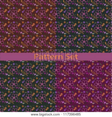 Set Of Patterns With Colors Ooo Ooo
