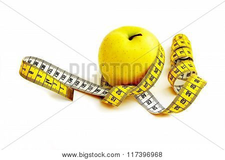 Centimetre Round A Yellow Apple