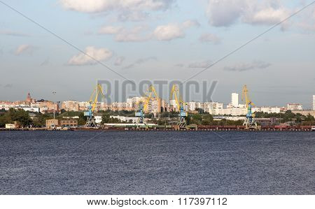 Southern River Port In Moscow.