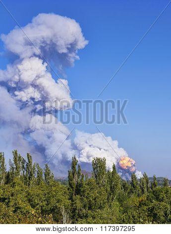 Explosion Ukrainian Tactical Missile