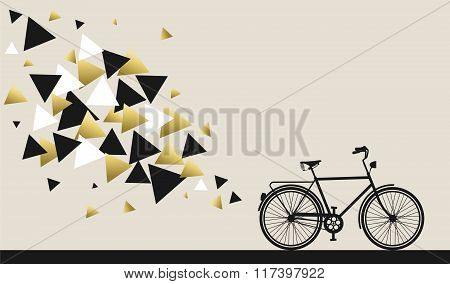 Bike Concept With Hipster Gold Geometry Design