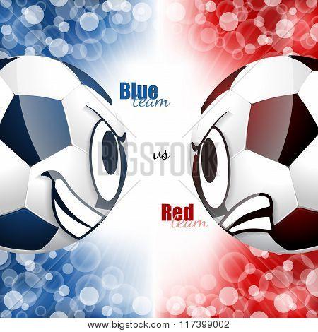Soccer Balls Head To Head Design