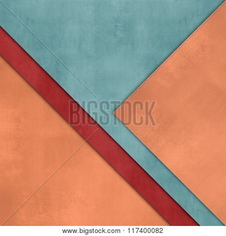 Orange green paper background - abstract flat layout