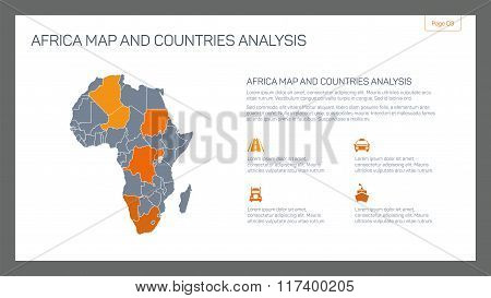 Africa map and countries analysis