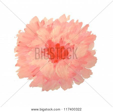 Beautiful watercolor flower on white background