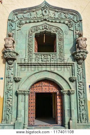 Main entrance to Casa de Colon (The house of Christopher Columbus), Las Palmas, Gran Canaria, S