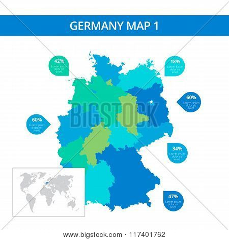 Germany map template 1