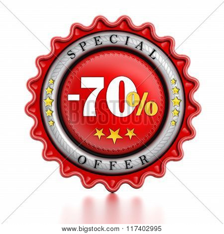 -70 Percent Sale Stamp