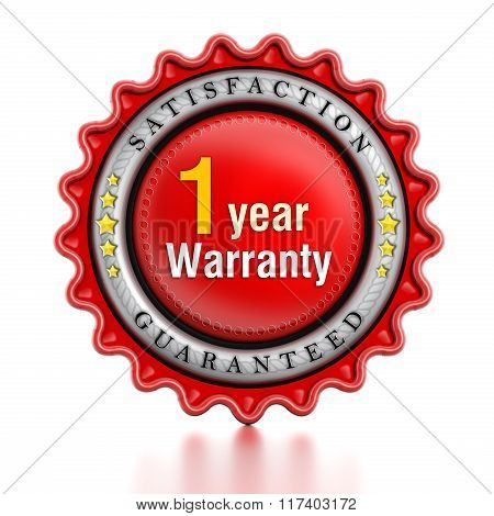 1 Year Warranty Stamp