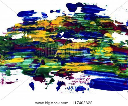 Multicolored Abstract Streaks Of Paint