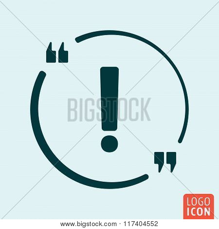 Exclamation Icon design