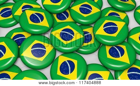 Brazil Flag Badges Background