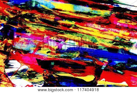 Bright Abstract Diagonal Smears Of Paint