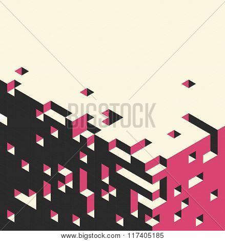 Isometric cubes background