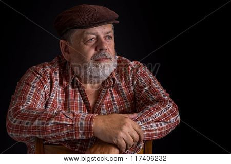Portrait of elderly Ukrainian peasant