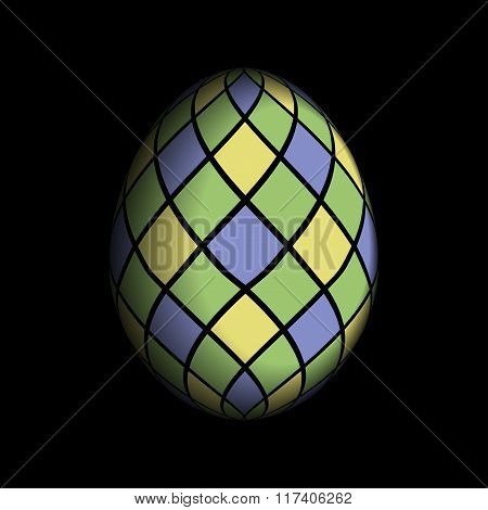 Greeting Card - Colored Easter Egg
