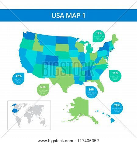 USA map template 1