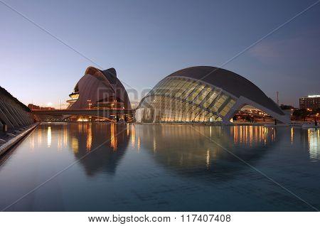 Valencia in the night