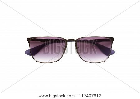 Stylish male sunglasses isolated on white background