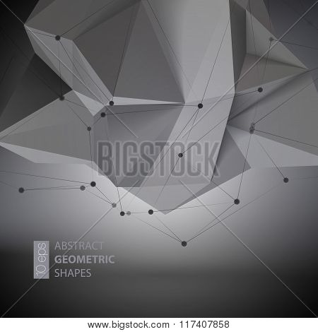 Abstract geometric shape  triangular  Crystal. Vector illustration