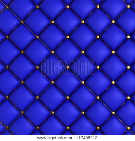 3D Render of Quilted Leather Background