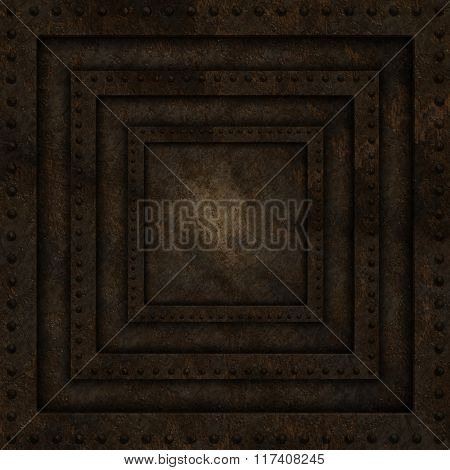 Abstract background with grunge metal texture