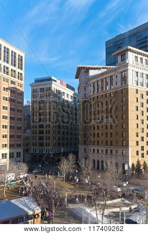 Overlooking Landmark Plaza In St. Paul