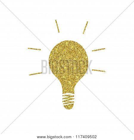 Vector modern golden glitter idea background.