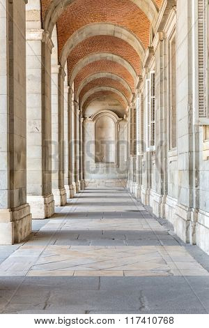 Royal Palace corridor, Madrid, Spain