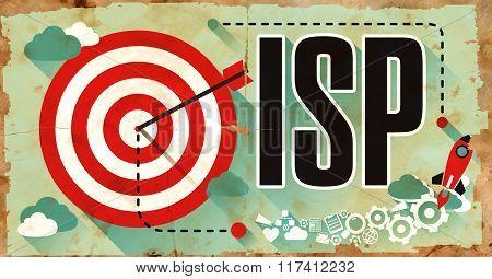 ISP on Grunge Poster.