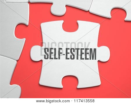 Self-Esteem - Puzzle on the Place of Missing Pieces.