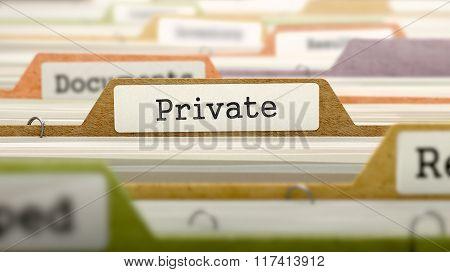 Private Concept. Folders in Catalog.
