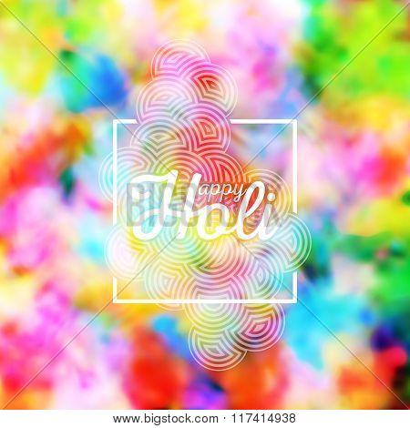 Colorful background for Holi celebration, vector illustration