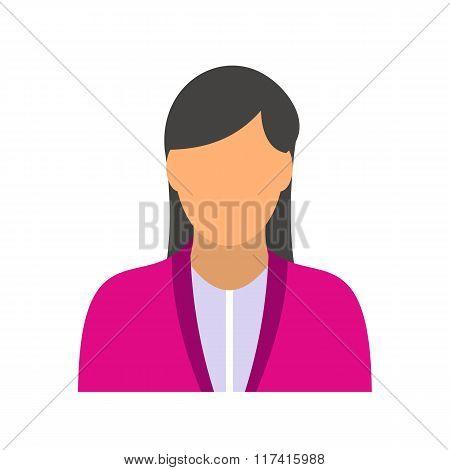 New girl avatar icon
