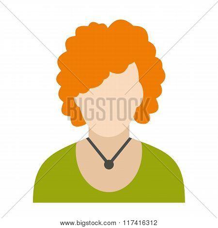 Redhead woman avatar icon