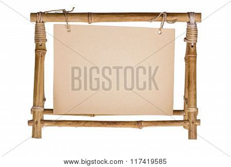 Empty Frame For A Photo From A Bamboo