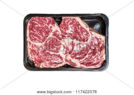 Two Ribeye Steaks In Vacuum Package
