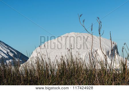Large Pile of Natural Salt in Chula Vista, California