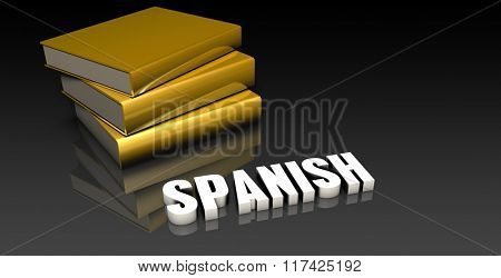 Spanish Sale Subject with a Pile of Education Books