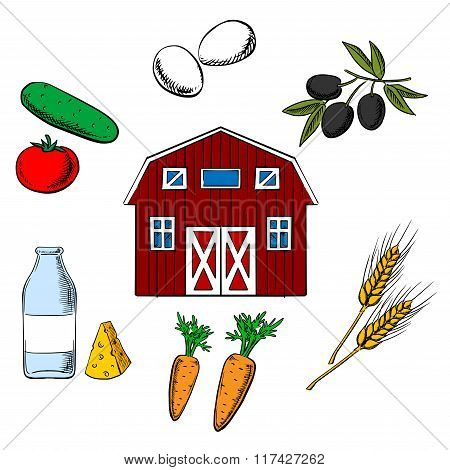 Farming food and agriculture objects