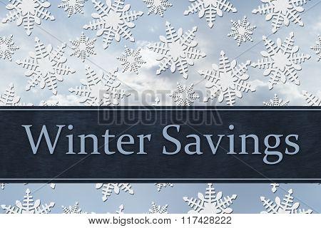Winter Savings Message