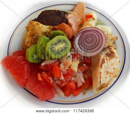 Ready to eat breakfast plate