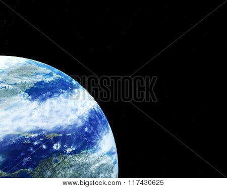 Kind of the Earth from space, on a black background. Elements of this image furnished by NASA