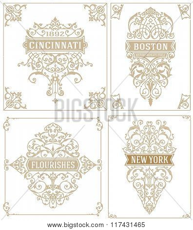 Vintage logos/Cards and elements. vector templates.